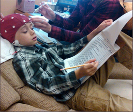 Filling out Behavior Rating Inventory of Executive Functioning while being prepared for EEG